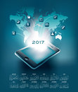 Mobil technology calendar ideal for print or web use Stock Photography