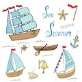 Set of ships for marine design