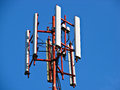 Mobile antena shot of a phone Stock Images