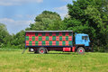 Mobile apiary photo of parked in meadow Royalty Free Stock Images