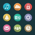 Mobile application icons of different colors apps Royalty Free Stock Image