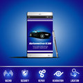 Mobile application vector automotive icon automobile for phone Royalty Free Stock Photography