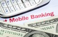 Mobile banking Royalty Free Stock Images