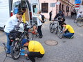 Mobile bike service lublin poland at the th edition of the cycling parade th may Royalty Free Stock Photography