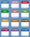 Mobile Calendar Icons Set Royalty Free Stock Photo