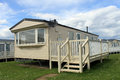 Mobile caravans or trailers Stock Photo