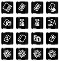 Mobile or cell phone, smartphone,  specifications and functions Royalty Free Stock Photo