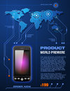 Mobile cell smart phone telecom provider flyer detailed vector Stock Photo