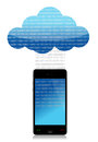 Mobile cloud computing binary transfer Royalty Free Stock Photos