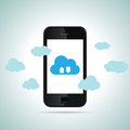Mobile cloud smartphone vector illustration of concept Stock Images