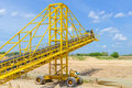 Mobile conveyor and Sand mining Royalty Free Stock Photo