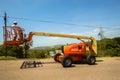 Mobile Crane Hoist Operator Royalty Free Stock Photo