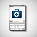 Mobile device health care kit first aid