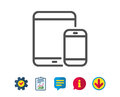Mobile Devices icon. Smartphone, Tablet PC.