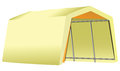 Mobile garage fabric tent on a metal structure vector illustration Royalty Free Stock Photography