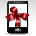 Mobile gift illustration of phone with decoration as a Royalty Free Stock Images