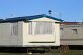 Mobile homes on a caravan park scenic view of england Stock Photos