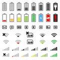 Mobilný sada skladajúca sa z ikon batérie a spojenie
