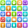 Mobile Icons, Social Media, Mobile Application, Internet Royalty Free Stock Photo