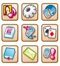 Mobile ikony Fotografia Royalty Free