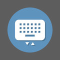 Mobile keyboard flat icon. Round colorful button, circular vector sign with shadow effect. Flat style design.