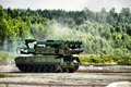Mobile missile launcher Stock Images
