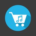 Mobile music commerce online Royalty Free Stock Photo