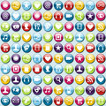 Mobile phone app icons pattern background Stock Photo
