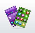 Mobile phone applications vector concept eps Royalty Free Stock Photography