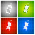 Mobile phone background Royalty Free Stock Photos