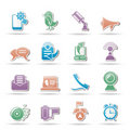 Mobile Phone and communication icons Royalty Free Stock Photo