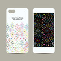 Mobile phone cover design, abstract geometric pattern