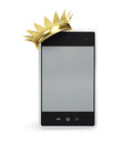 Mobile phone gold grown Royalty Free Stock Photos