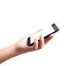 Mobile phone in hand modern Royalty Free Stock Photos