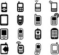 Mobile Phone Icons Stock Photography
