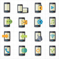 Mobile phone icons this image is a vector illustration Stock Photo