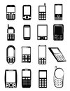 Mobile Phone Icons Royalty Free Stock Photo