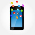 Mobile phone with icons vector ilustration this is file of eps format Stock Image