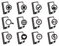 Mobile Phone Internet Vector Icon Set Royalty Free Stock Photo