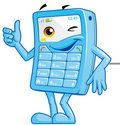 Mobile phone mascot Royalty Free Stock Photography