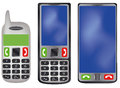 Mobile phone old and new design Royalty Free Stock Images