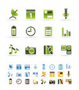 Mobile phone performance icons Royalty Free Stock Photo