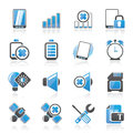 Mobile Phone sign icons Stock Image