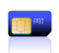 Mobile Phone Sim Card Royalty Free Stock Images