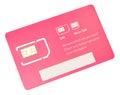 Mobile Phone SIM Card Royalty Free Stock Photo