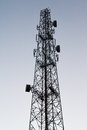 Mobile phone tower a that use to transmit and receive the signal Royalty Free Stock Photography