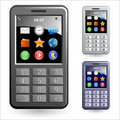 Mobile phones icon set Royalty Free Stock Images