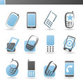 Mobile phones. Vector logo template set. Stock Photos