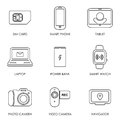 Mobile portable devices icon set symbol flat style vector Royalty Free Stock Photo