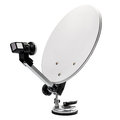 Mobile Satellite Dish Royalty Free Stock Photo